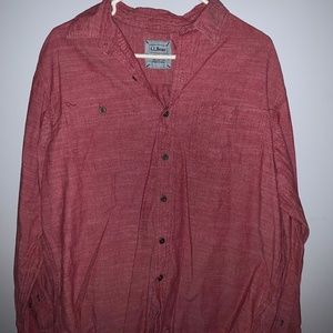 Size M L. L. Bean Button Down Long Sleeve Shirt